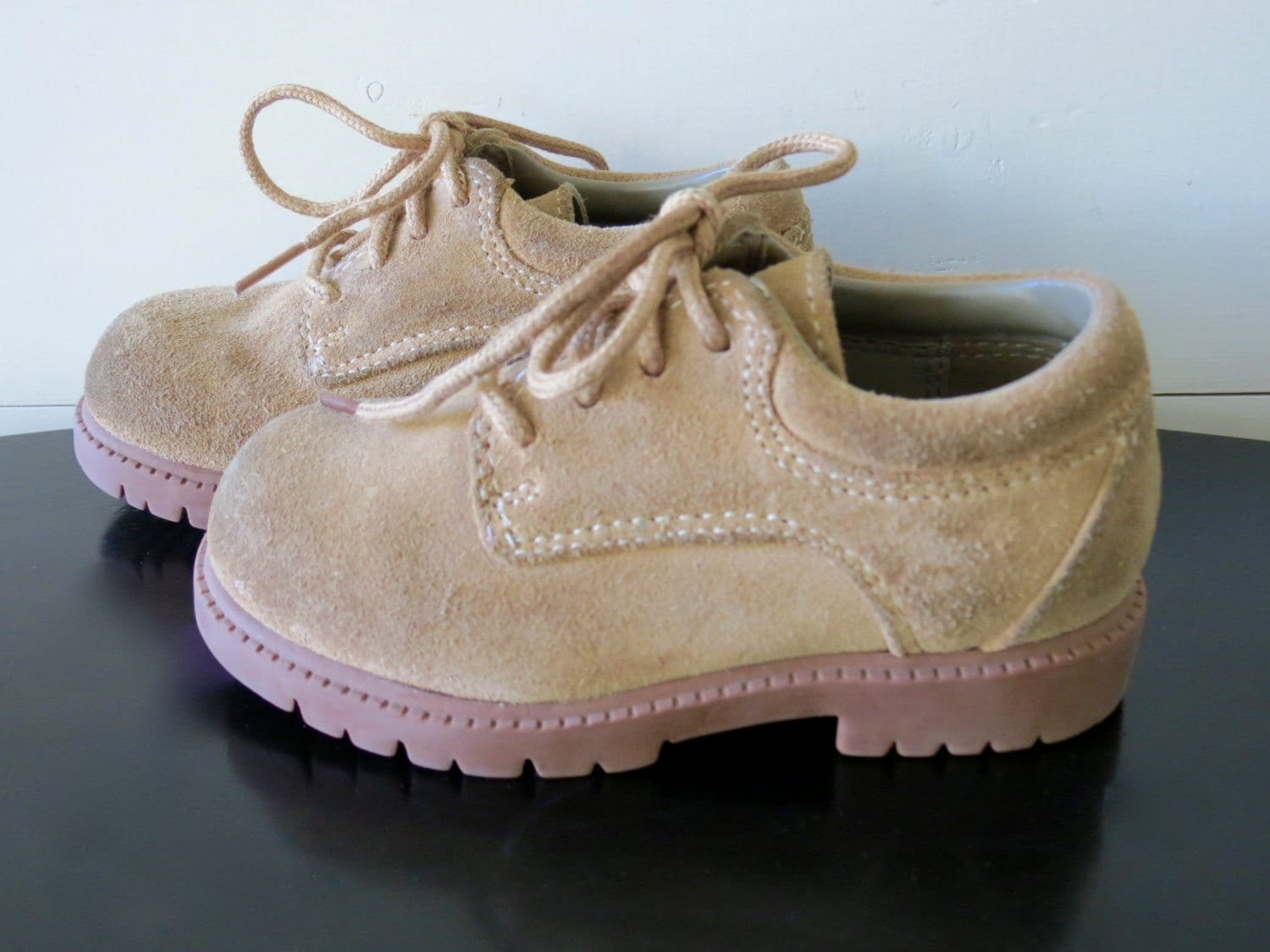 Baby Suede Saddle Oxford Shoes Toddler Size 7 Vintage Boys