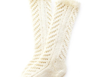 Babies/Children's knitted lambswool knee-high Lace Socks/stockings/gray/white/pink/boot socks/legwarmers/woolen socks with lace