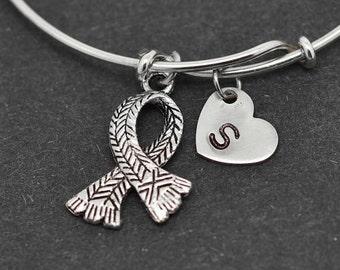 Scarf Bangle, Sterling Silver Bangle, Scarf Bracelet, Bridesmaid Gift, Personalized Bracelet, Charm Bangle, Initial Bracelet
