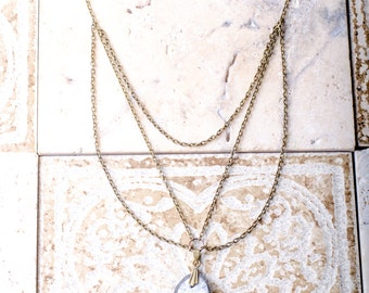 Large Ancient Fossil Necklace. One of a kind