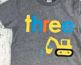 Construction birthday, construction birthday shirt, construction invitation, construction party, construction party decor, Excavator shirt
