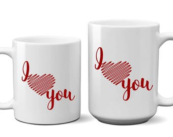 I Love You, Coffee, Mug, Cup, Gift For, Her, Him, Boyfriend, Girlfriend, Wife, Husband, Mothers Day, Fathers Day, Anniversary
