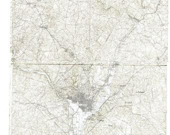 Washington DC and Alexandria Map 1914