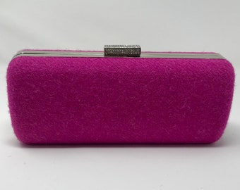 Pink clutch bag - Harris Tweed pink clutch bag - Harris Tweed pink purse - Pink evening purse - Wedding clutch bag - Bridal clutch bag