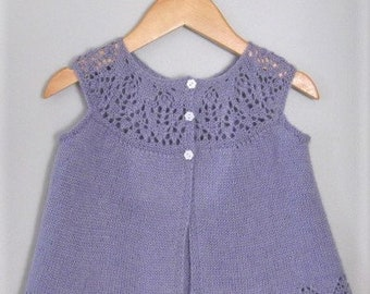 Hand Knitted Baby Girl Lacy Cardigan Sweater