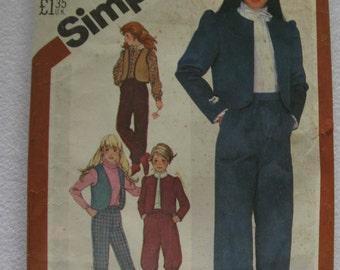 Vintage 1982 Simplicity Pattern 5626 Girls 7