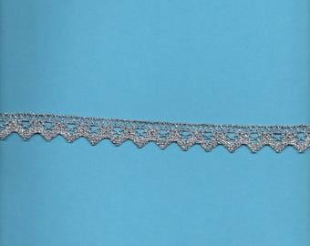 Lace silver Lurex 2cm wide