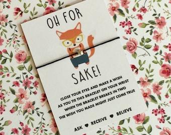 Oh For Fox Sake Wish String! For Fox Sake Gift! Buy 5 get 1 free!