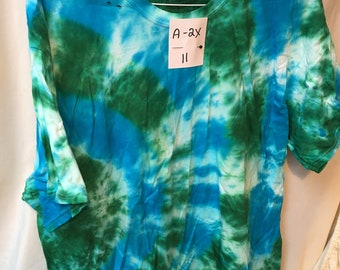 Tie Dyed T-Shirt Adult 2X  (A2x-11)