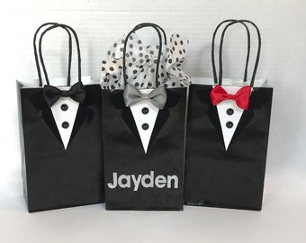 Tuxedo Gift Bag | Groomsmen Gift Bag  | Groomsmen Bag | Gifts for Groom | Wedding Party Favors | Small