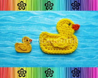 Duck Applique - CROCHET PATTERN (PDF)