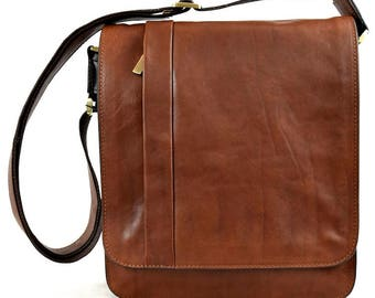 Genuine Leather Man Crossbody Bag