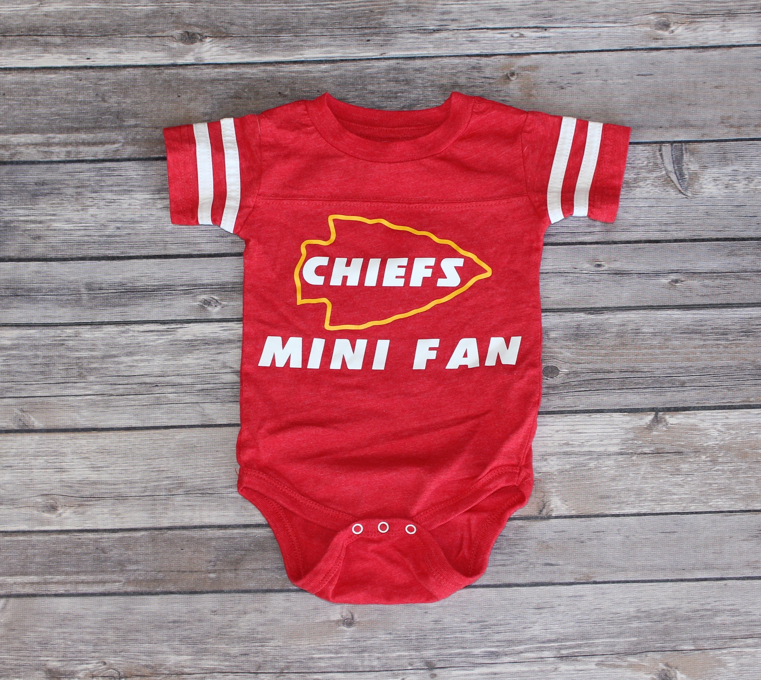 Chiefs mini fan onesie football onesie kc chiefs kansas