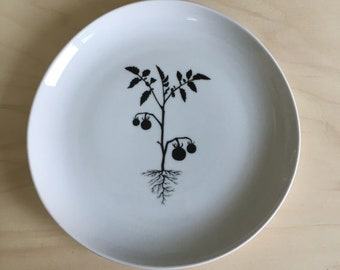 Ceramic art plate - tomatoplant - 22 cm (3 of 3)