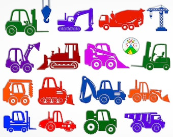 Trucks svg cut files - excavator cricut files - construction machinery- loader silhouette - Trucks clipart files - svg, dxf, eps, png - ST29