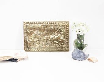 Embossed Brass Wall Plaque