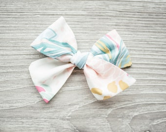 Classic Bow-Spring Bow-Brush Floral Blooms-Hair Bow-Baby Bow-Over-sized Bow-Girls Bow