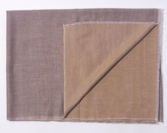 100% Cashmere Reversible Scarf Camel & Amber