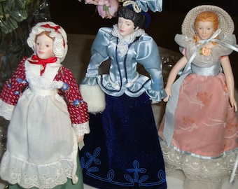 Dolls, Avon Porcelain Figurines, Vintage, Choice of