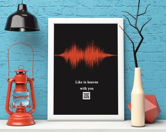 personalised soundwave design - printable
