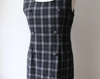 Tartan wool dress