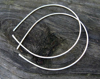 Large sterling silver open hoops 2 inch