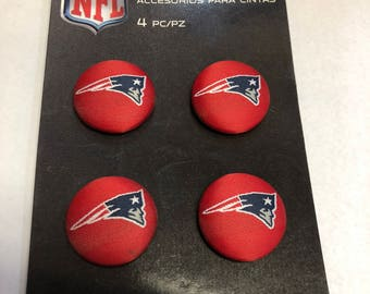 4-Piece NFL New England Patriots Red Logo Buttons