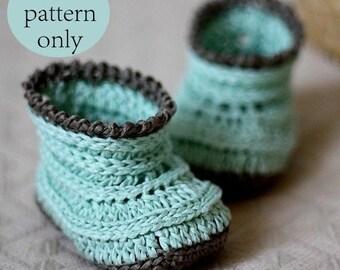 Crochet PATTERN  - Knit-look Baby Boots