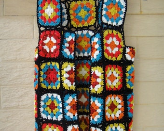 Granny Square Jacket Crochet Vest