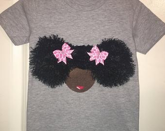 Afro girl T-Shirt for the diva little girl.