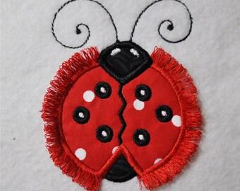 Fringe LadyBug Applique Embroidery