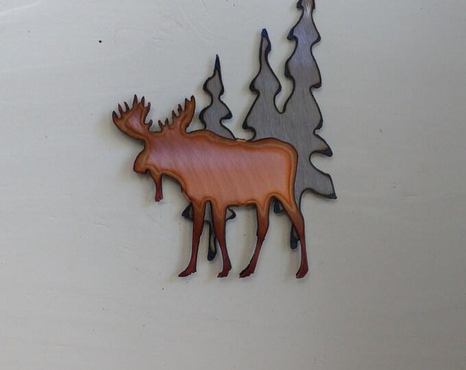 Moose Beneath the Trees Mini Sculpture