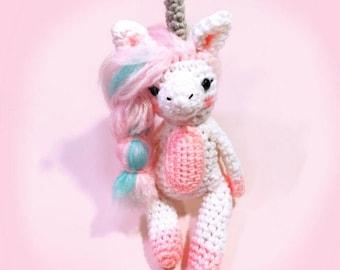Pastel Unicorn Doll - Stuffed Unicorn - Crochet Mythical Unicorn - Amigurumi Unicorn Plush - Crochet Unicorn - MADE TO ORDER