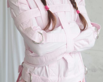 Baby Pink ABDL Straitjacket - Straitjacket for a Little / Adult Baby Diaper Lover