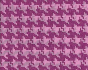 "J. CREW Pink Houndstooth Lightweight Knit. 63"" wide."