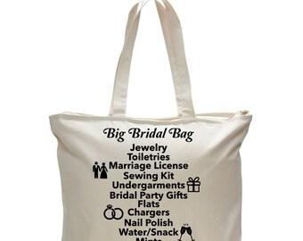 BRIDAL BAG - Unique Gift for Bride, Bride's Bag, Bridal Gift, Gift for Bride to be, Gift for Bride, Bag for Bride, Bridal Tote Bag, Wedding