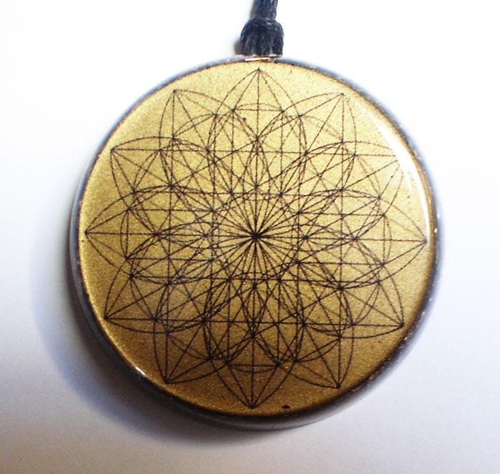 Sacred flower orgonite pendant aura protect orgone energy zoom mozeypictures Images