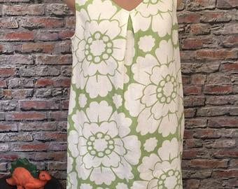 Boden Linen Sheath Dress With Vintage Lace Hem   Size 10
