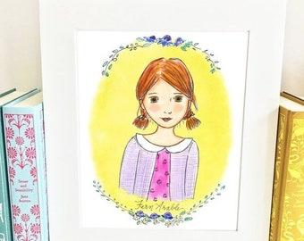 ON SALE Fern Arable - Charlotte's Web - literary heroine - girls room decor - Limited Edition - HFA