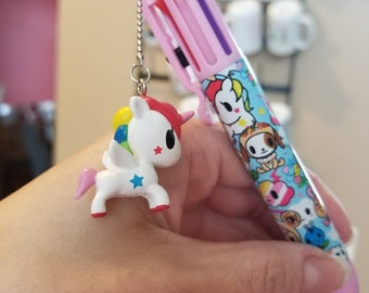 Punk rock chubby unicorn multi-color rainbow pen -great for school, planners, scrapbooking, journaling