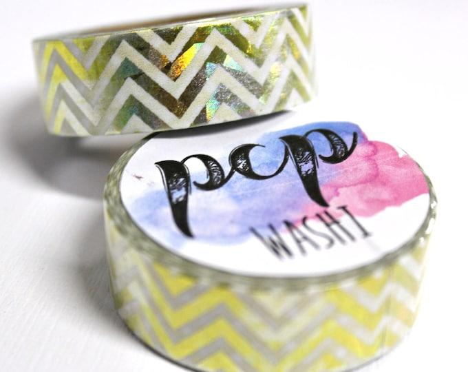 Washi Tape - Foil Washi Tape - Gold Chevron Foil Washi Tape - Paper Tape - Planner Washi Tape - Washi - Decorative Tape - Deco Paper Tape