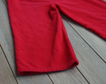 1970s ToddleTime Red Corduroy Pants 4T