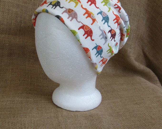 Elephant Hat Bohemian Organic All Natural 100% Cotton Tribal Beanie GOTS Certified Eco and Earth Friendly