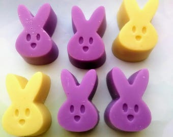 Scented Wax Melts~4 Mini- Peeps Shape Wax Melts - Tarts Melts - 4oz