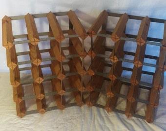 Primitive Hand Crafted Wine Racks, Wall Art, Decorative Shelf/Storage, Crafter's Dream, Craft Supplies,  Industrial Decor, Galvanized Steal