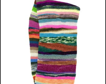 """Hand-Knit """"Scrappy"""" Infinity Scarf"""