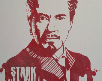 Robert Downey Jr. Ironman Painting