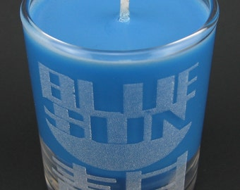 Firefly Blue Sun Corporation Laser Etched Mini Candle Scented with Blueberry Cobbler