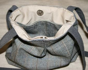 Small gray Handbag, Small Shoulder  Bag ,Cute Small  Bag, Shoulder Bag,  Handmade Bag, Handmade Gift,