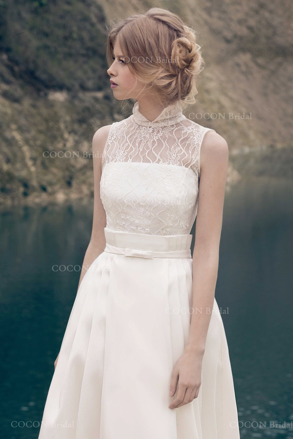 Wedding Dress from Mikado and Chantilly Lace Classic Gown